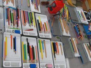色鉛筆の準備