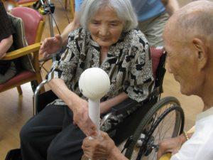 大きなボールを・・