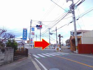 ローソン高松木太町7区店さんのある信号を北へ