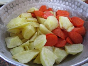 素揚げにした野菜