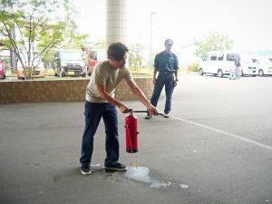 消火器の操法体験